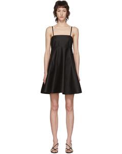 黑色細肩帶A字形連衣裙