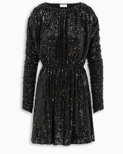 Sequin-embellished flare dress