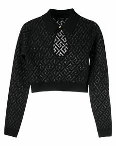 涡纹图案棉质运动衫