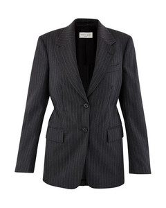 Blended wool blazer