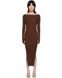 棕色Orville连衣裙