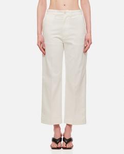 Lulu tiered ribbon-appliquélinen-poplin skirt
