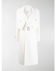 belted tailored trench coat