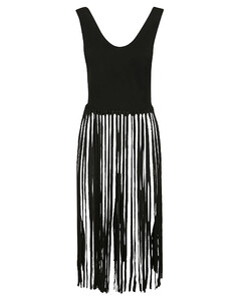 黑色Corset垂坠礼服连衣裙