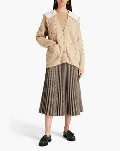 Katherine不對稱燒花雪紡綢裹身連衣裙