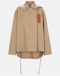 棉质薄麻布派克大衣