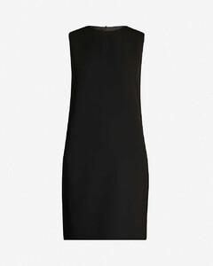 Column sleeveless crepe mini dress