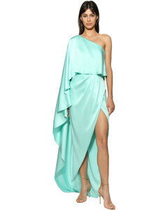 One Shoulder Silk Satin Dress