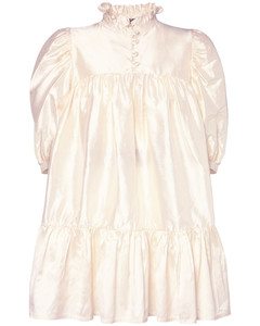 Ruffled Silk Shantung Mini Dress
