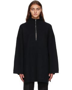 黑色Tomar半拉链毛衣
