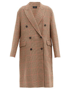 Carles houndstooth wool-blend double-breasted coat