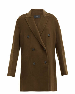 Clavel felted wool-blend double-breasted coat