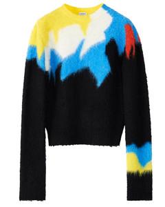 Multicolor intarsia sweater