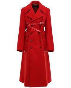 Wool Coat W/ Leather Harness