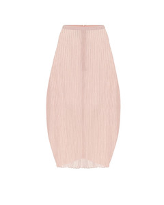 高腰中长半身裙