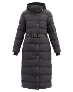 Eppingham belted quilted down coat