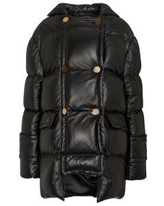 皮革填充夹克