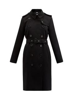 Kensington mid cashmere-felt trench coat