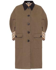 Cotton poplin coat