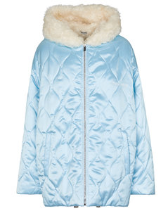 Faux shearling-lined quilted jacket