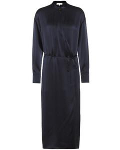 絲緞裹身連衣裙