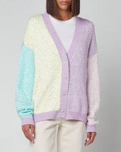Women's Cecily Colourblock Cardigan - Sequin Knit