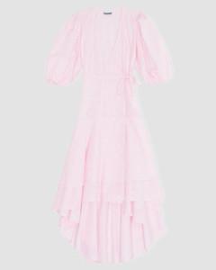 Women's Printed Cotton Poplin Dress - Cherry Blossom