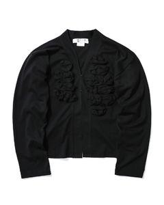 Tonal applique jacket