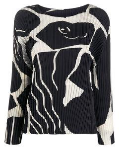 Cuddle Pleats Crewnec Sweater