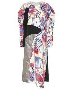 绉纱和锦缎连衣裙