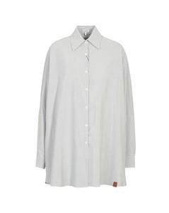 Stripe bat sleeve shirt
