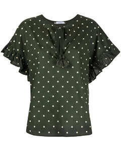 PAROSH Clois polka dot-print blouse