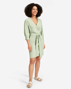 The Japanese GoWeave Long-Sleeve Mini Wrap Dress