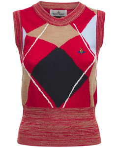 Logo Embroidery Wool Knit Top