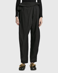 Quadro double-breasted faux-fur and wool-blend coat