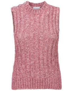 Glitter Embellished Knit Vest