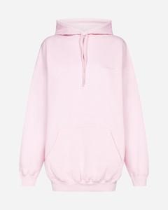 Oversized logo cotton hoodie