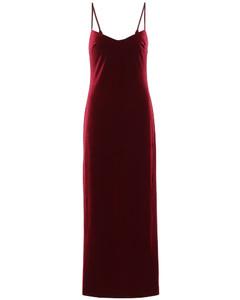 Berlin天鵝絨緊身胸衣式連衣裙
