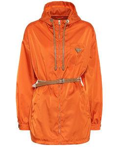 Belted nylon jacket