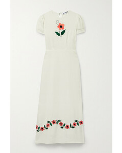 Aurelia Embroidered Voile Maxi Dress