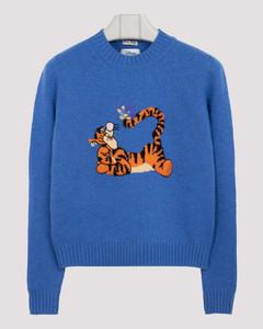 Blue wool sweater with Tigro