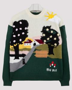 Landscape wool sweater