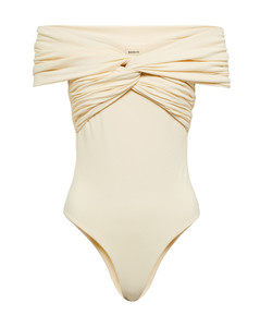 Tailored canvas straight-leg trousers