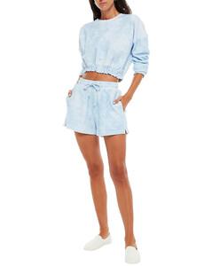 超長對比拼接連衣裙