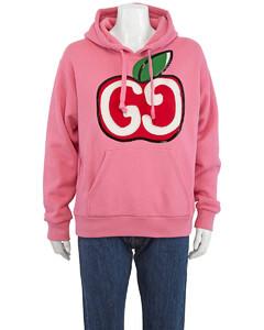 GG Apple Print Hoodie