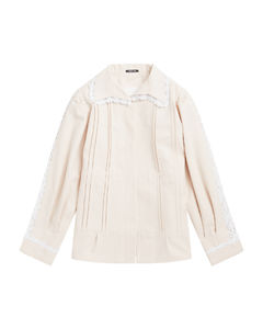 Silk Fitted Button-up Jacket