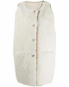 sleeveless lamb fur jacket