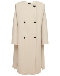 Egelton Double Breasted Wool Blend Coat