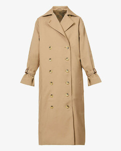 Double-breasted cotton-blend trench coat