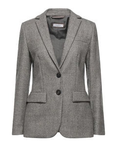 TELLY Double Breasted Coat with Contrasting Buttons (Black)